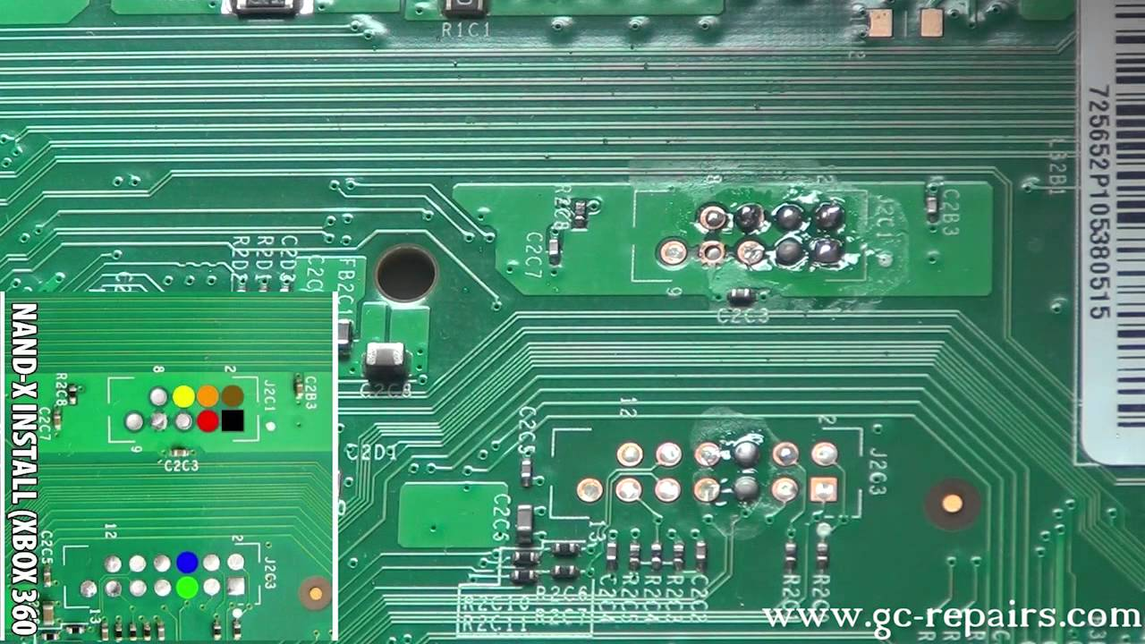 Xecuter CR3 Lite X360 S Trinity Soldering NAND X Wires Part 4of9 ...
