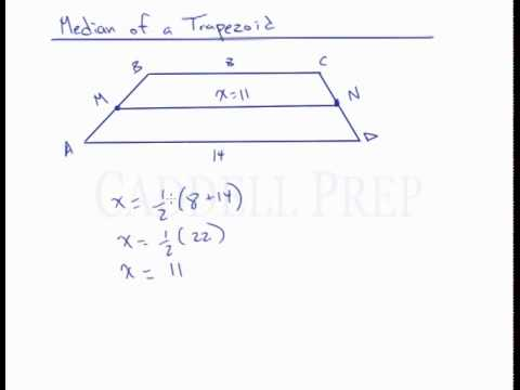 Median of a trapezoid youtube median of a trapezoid ccuart Image collections