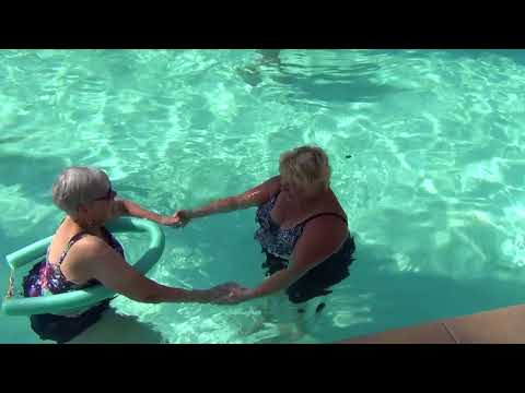 Aquatic therapy in the pool, Sheralee Beebe