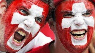 ДРАКА НА СТАДИОНЕ ВО ВРЕМЯ МАТЧА ШВЕЙЦАРИЯ - КОСТА-РИКА Швейцарские болельщики. Swiss football fans.