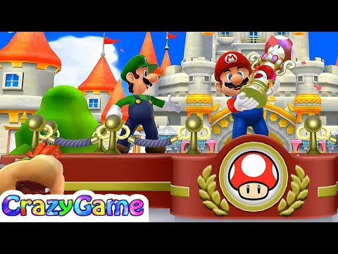 Mario Sports Mix Mushroom Cup - Team Mario & Luigi Play Basketball Gameplay | CRAZYGAMINGHUB