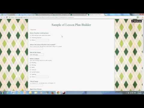 Google Form Lesson Plan Builder