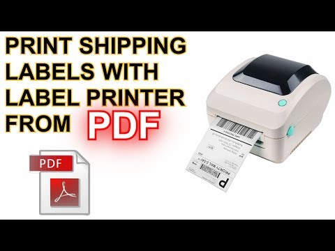 How To Print PDF Shipping Labels On Windows UPDATED 2019 Setup Tutorial Guide Adobe Reader