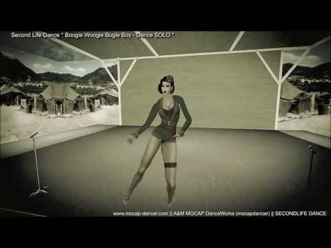 SecondLife - Boogie Woogie Bugle Boy from Company B - DANCE SOLO  | Dance by A&M MOCAP / mocapdancer