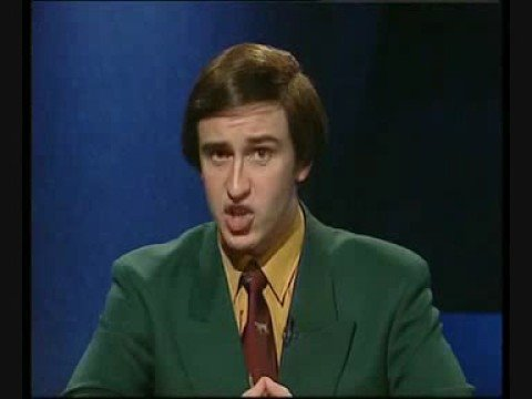 Alan Partridge - Sports reporter, 1994. Part 1 of 2.