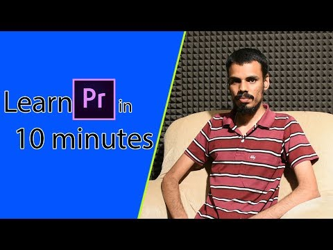 LEARN PREMIERE PRO IN 10 MINUTES! Basics tutorial for beginners