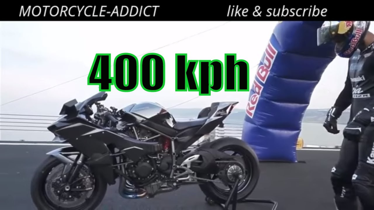 Fastest Road Legal Motorcycle Kawasaki H2R WORLD RECORD 400 kph in ...