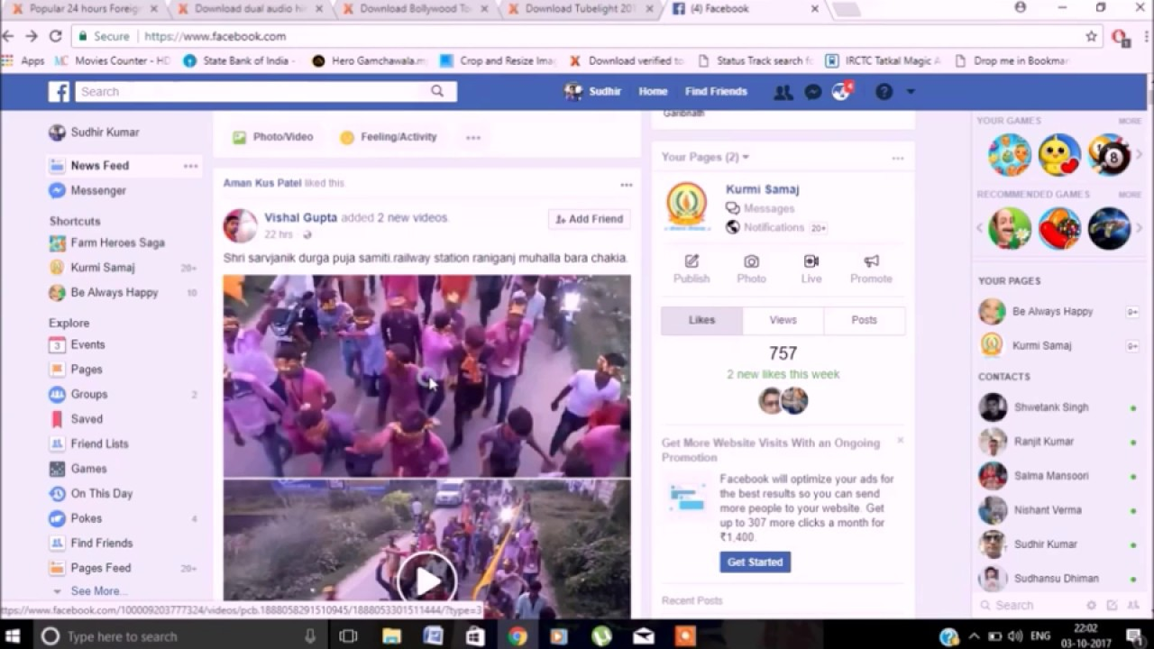 How to download facebook video on computer