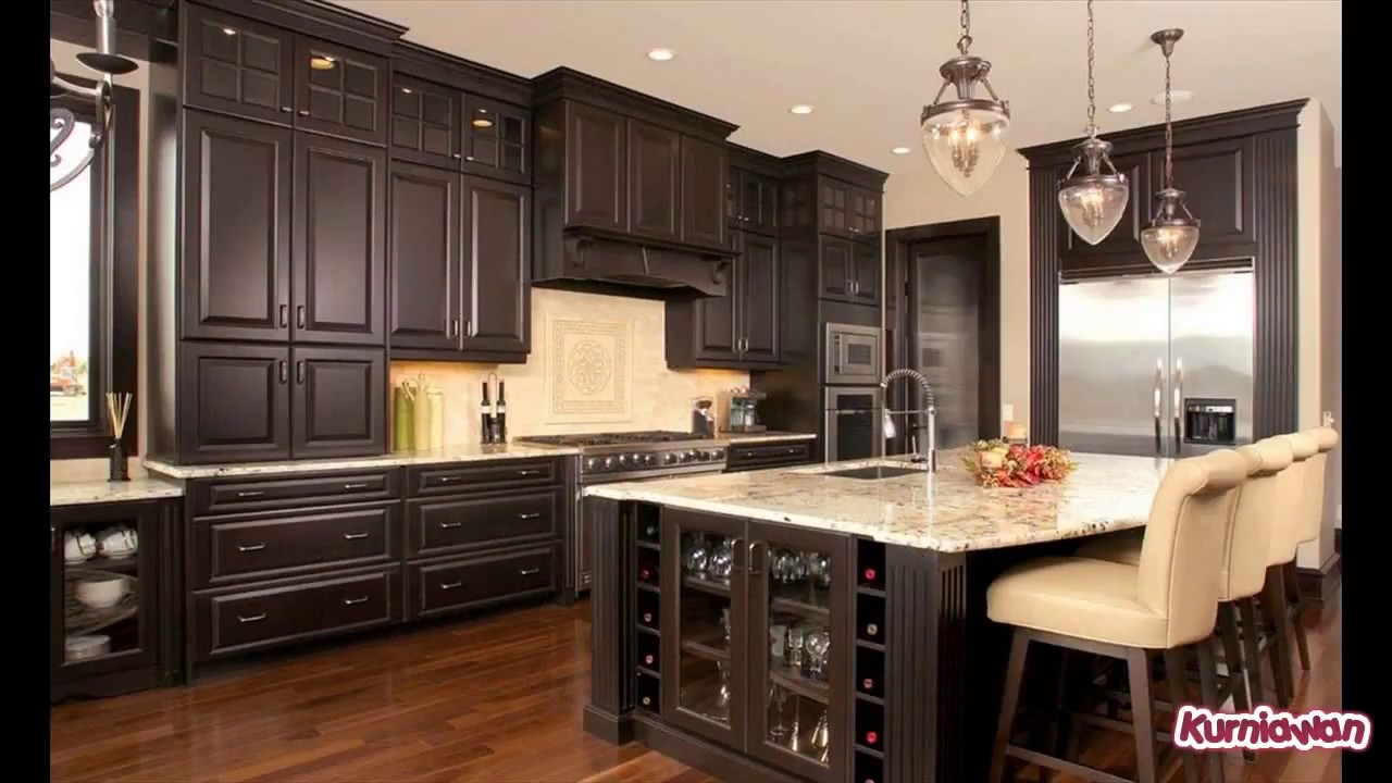Kitchen Cabinets with Wine Rack - YouTube