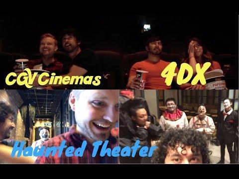 4DX & HAUNTED THEATER REACTION / VLOG At CGV CINEMAS In Buena Park!!!