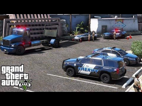 ANOTHER DAY AT WORK #12 |GTA 5 REAL LIFE MOD|TOW TRUCK DRIVER IMPOUNDING CARS FROM POLICE CHECKPOINT