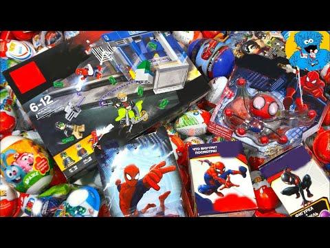 Киндер Сюрпризы,Unboxing Kinder Surprise Человек Паук,Marvel Spider-Man,Disney Cars