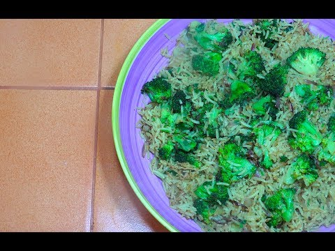 Broccoli Fried Rice - Broccoli recipes - Vegan Recipes - Easy Broccoli Fried Rice - Veg fried Rice