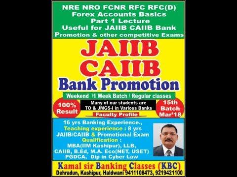 NRO,NRE,FCNR,RFC ACCOUNT in HINDI Lecture Part 1 on forex accounts BY Kamal  Krishna