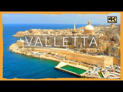 Valletta ● Malta 【4K】 𝐂𝐢𝐧𝐞𝐦𝐚𝐭𝐢𝐜 𝐃𝐫𝐨𝐧𝐞 [2019]