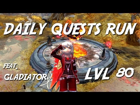 Gladiator Daily Quest Run Lvl 80 Solo - Dragon Nest Europe