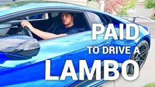 How I Get PAID To Drive A LAMBORGHINI Every Day thumbnail