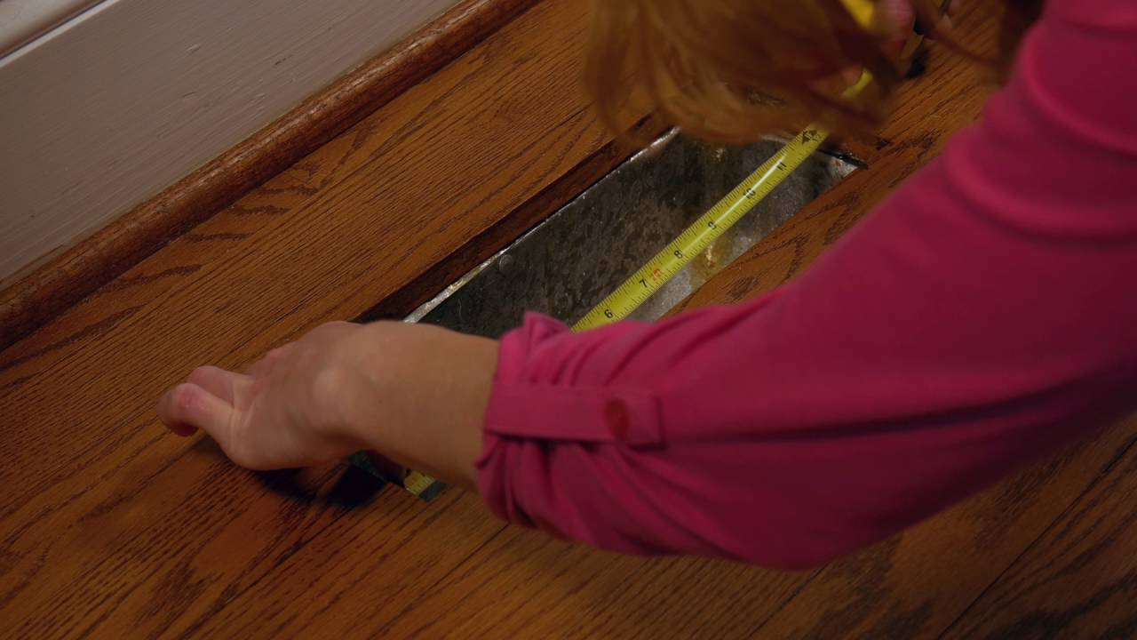 How To Measure And Replace Floor Registers Youtube