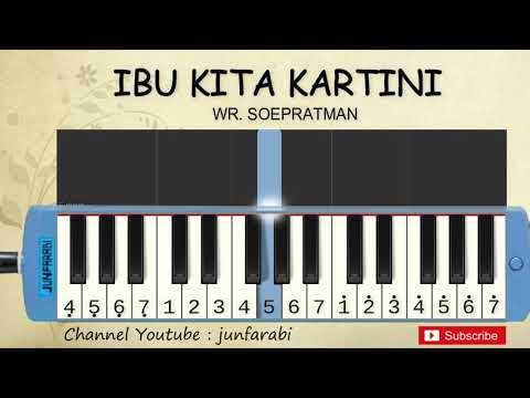 Not Pianika Ibu Kita Kartini  - Belajar Pianika