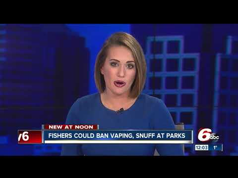 Fishers could ban vaping, chewing tobacco in parks