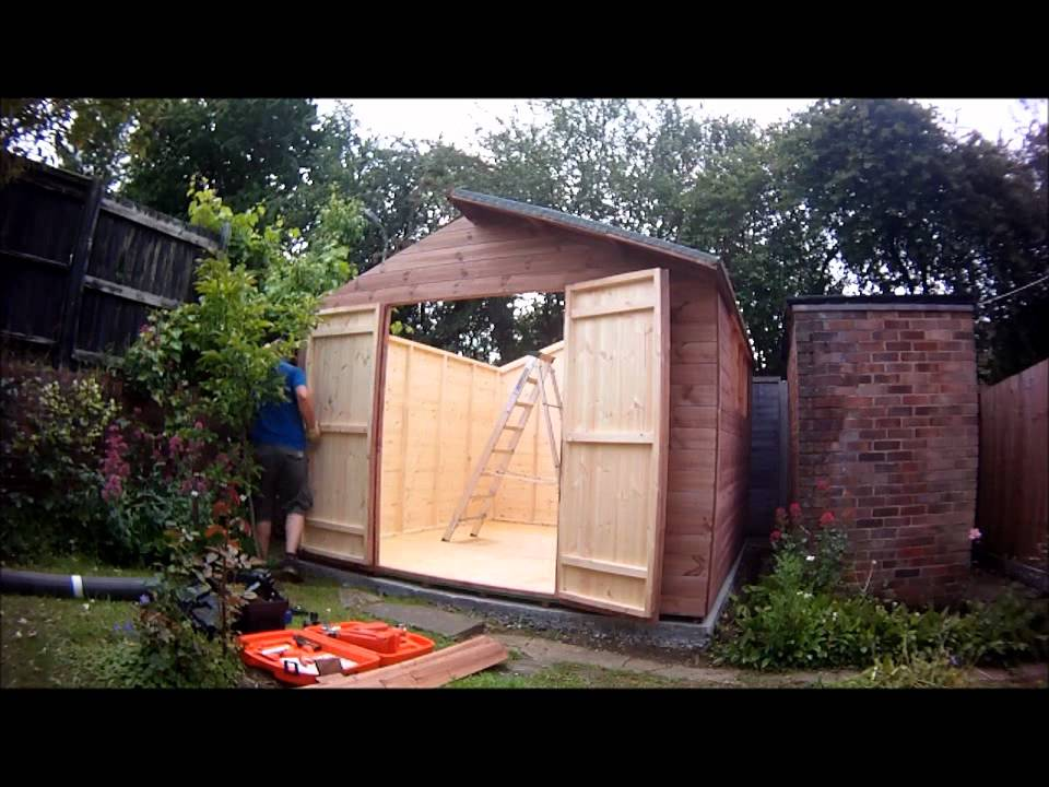 building an 11 x 10 garden shed in wickford essex youtube