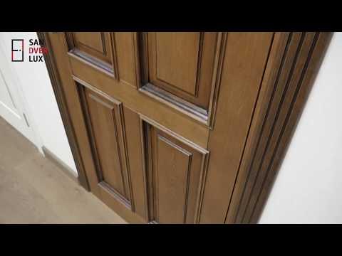 Обзор межкомнатной двери из массива дуба Д15 с багетом, Поставский мебельный центр - Sandverlux.by