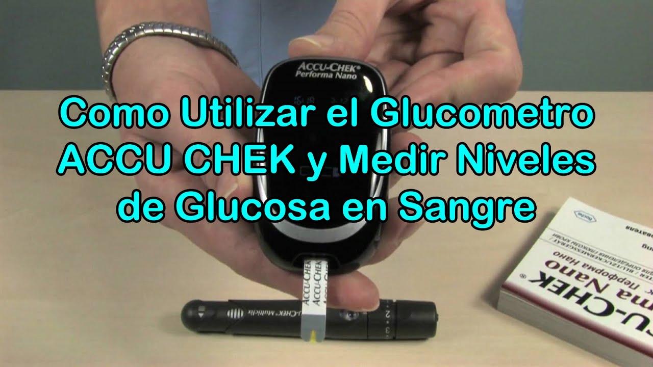 Como Usar el Glucometro ACCU CHEK y Medir Niveles de