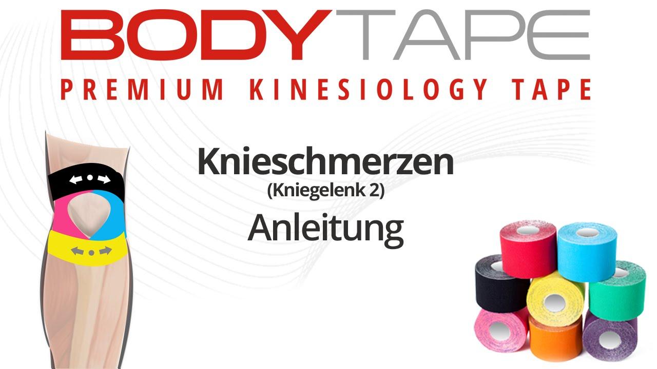 Knieschmerzen - Kinesiology Tape Anleitung (Kniegelenk 2) - YouTube