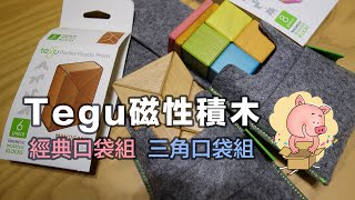美國tegu【simple Magnetic Wooden Blocks And Toys 磁性積木】經典口袋組 三角口袋組 開箱