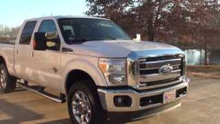 HD VIDEO 2011 FORD F250 LARIAT CREW CAB USED TRUCK FOR SALE SEE WWW SUNSETMILAN COM