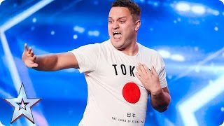 Adam Keeler spells it out for the Judges | Auditions Week 1 | Britain's Got Talent 2017