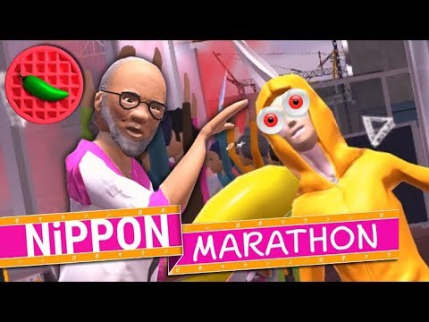 INSANE FOOTRACE GOES EVEN MORE INSANE! -- Let's Play Nippon Marathon (Steam PC Gameplay) (Local vs)