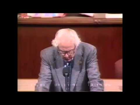Bernie Sanders Vigorously Opposes the Gulf War, the First Ir