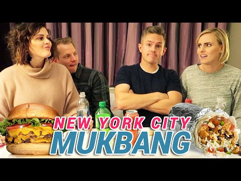 Mukbang In NYC With Bonnie And Joel! | Ellie And Jared