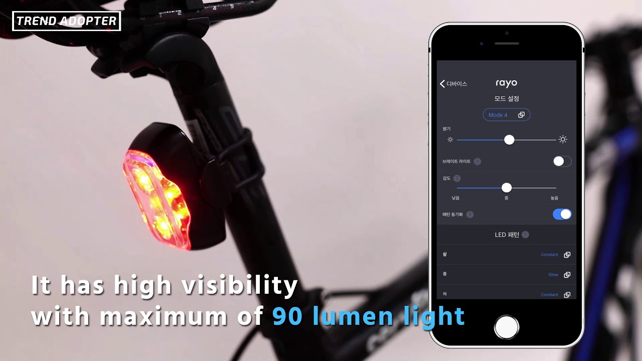 USB Rechargeable CLIQ Smart Bicycle Tail Light w// Brightest LED