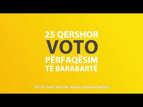 Vote for equal representation in Albania