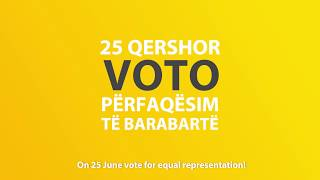 Vote for equal representation in Albania