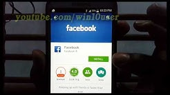 Samsung Galaxy Phone : How to Install Facebook For Android App