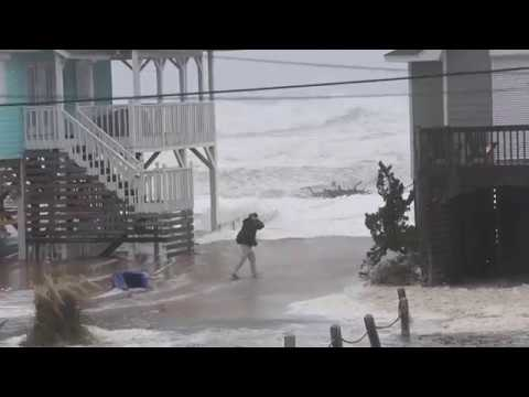 Hurricane Florence Impacts Buxton and Avon on Hatteras Island