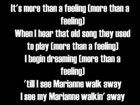 Mix - More Than A Feeling-Lyrics-Boston
