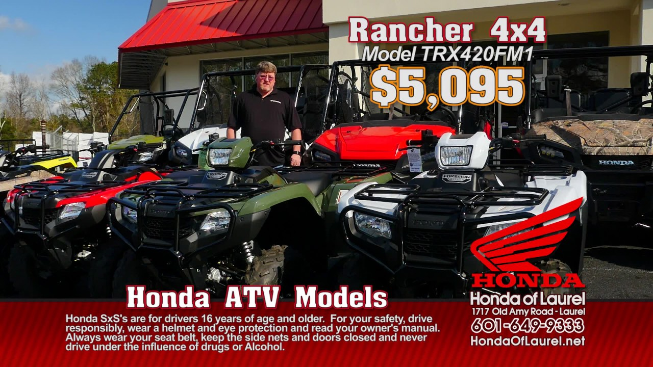 Honda Of Laurel >> Wdam Commercial Honda Of Laurel Atvs Jun17 Youtube