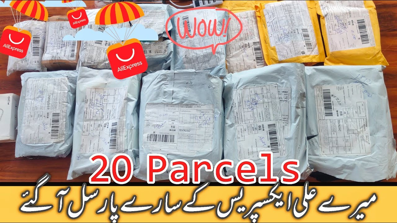 Aliexpress 20 Parcels Unboxing | 120$ Shopping Free from Aliexpress
