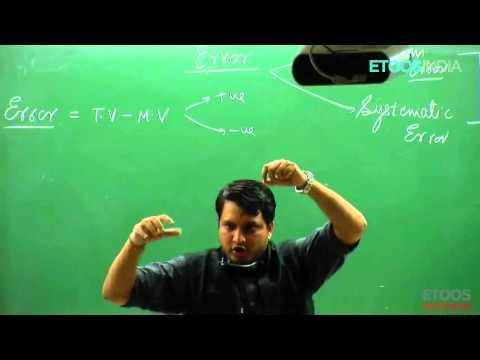Error  Video Lectures of Physics by Nitin Vijay (NV) Sir (ETOOSINDIA.COM)