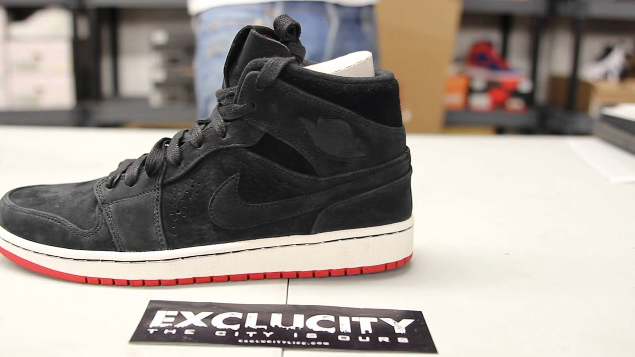 air jordan 1 retro high nouveau - black\/gym red\/white\/anthracite