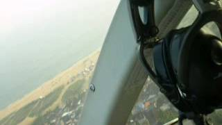 Ratheesh in chopperAerial view of Kollam town