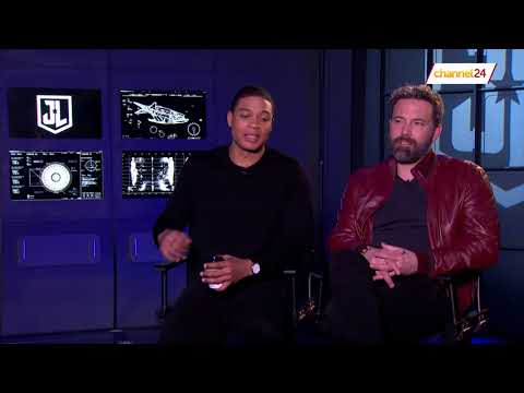 Ben Affleck (Batman) and Ray Fisher (Cyborg) chat to Channel24