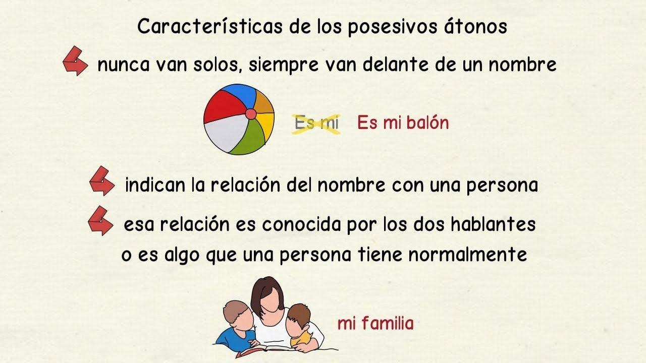 aprender español cómo se usan los posesivos átonos nivel básico