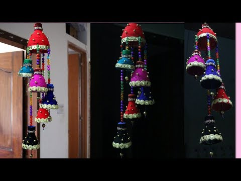 Wind chime out of Plastic Bottle - Best out of waste - Creative use of waste plastic bottles