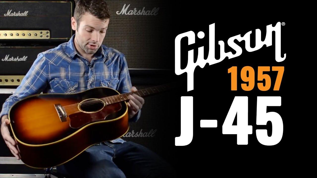 1957 gibson j 45 acoustic guitar demo youtube. Black Bedroom Furniture Sets. Home Design Ideas