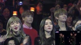 171201 Nct 127, Red Velvet, Super Junior Reaction To Exo - Power Mama 2017